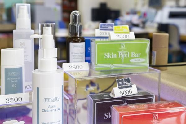 美容皮膚製品の取り扱い